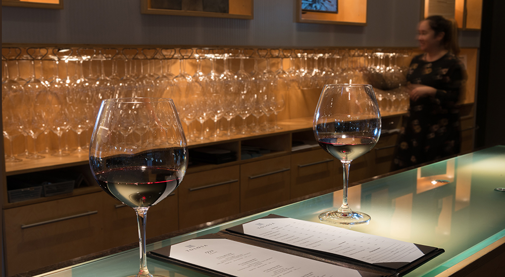 Tolosa Tasting Bar and Glasses. Visit Us!